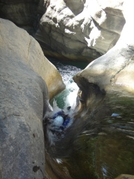 glissade toboggan naturel clue canyon