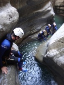 saut jump fun canyoning