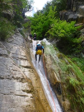 rappel d'accès à seconde grande cascade