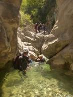 canyon idéal pour l'initiation dans les alpes maritimes