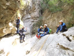 canyon facile avec des sauts et toboggans, proche nice antibes saint laurent du var