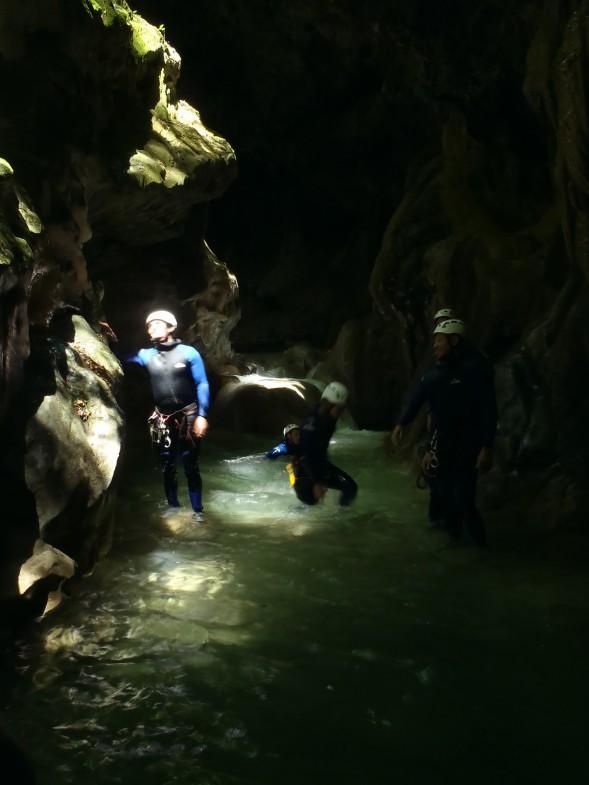 plus beau passage dans ce canyon de la côte d'azur