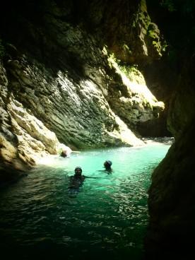 nage dans de l'eau limpide et fraiche
