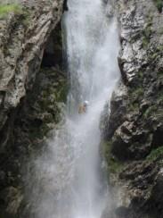 Essorage maximal dans la cascade de 60 mètres