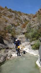 marche canyon soleil débutant enfants parfait