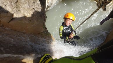 rappel soleil canyoning proche nice