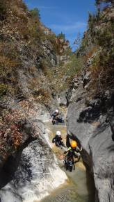 canyoning sauvage dans alpes haute provence